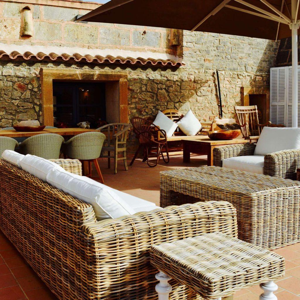 Rattan Möbel für die Terasse auf Mallorca