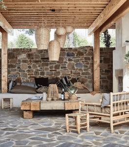 Outdoor Möbel aus Bambus und Teak